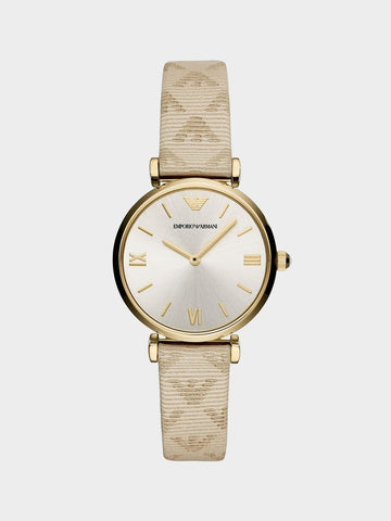 Emporio Armani Simple Belt Watch