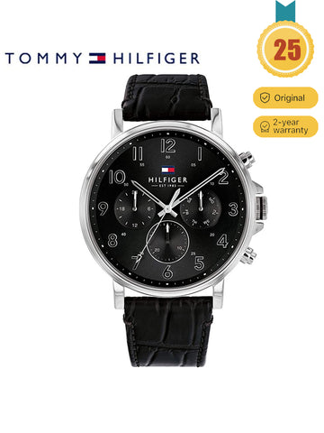 Tommy Hilfiger black men's watch