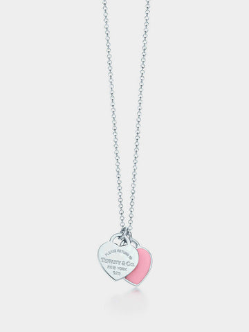 Women's Double Heart Shaped Necklace