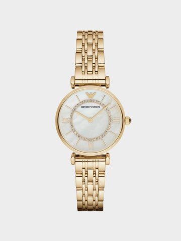 Emporio Armani Retro Gold Watch