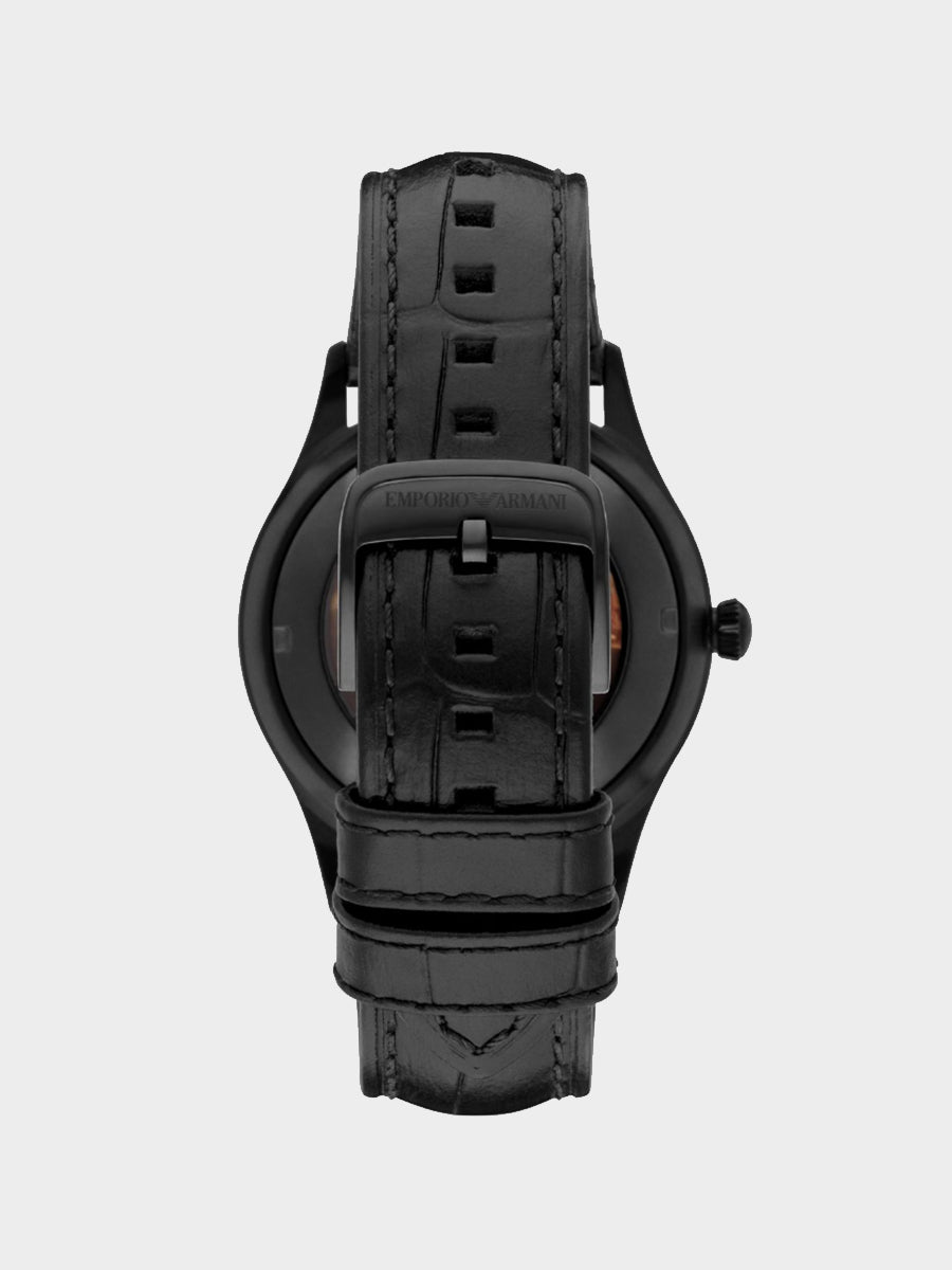 Emporio Armani Dress Black Leather Watch