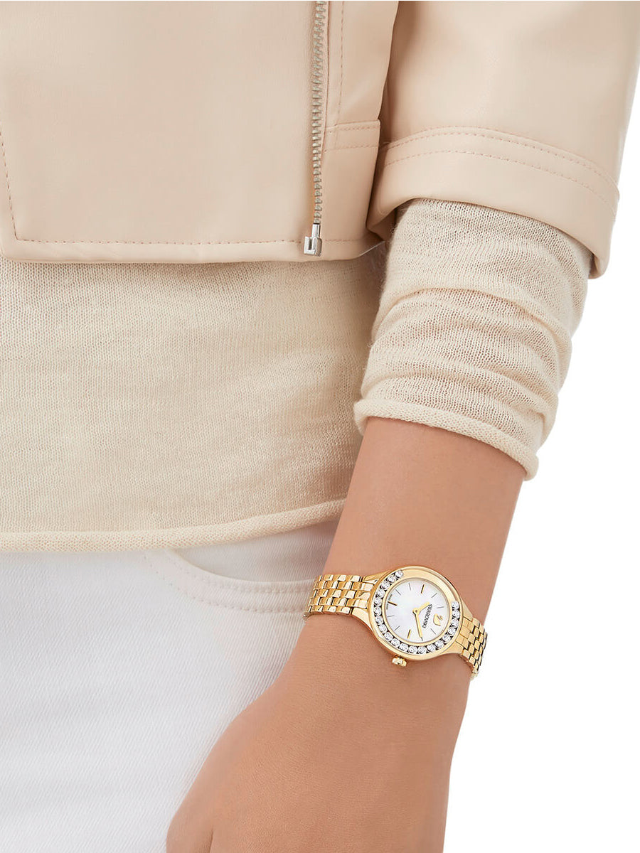 Women's Lovely Crystals Gold Tone Watch