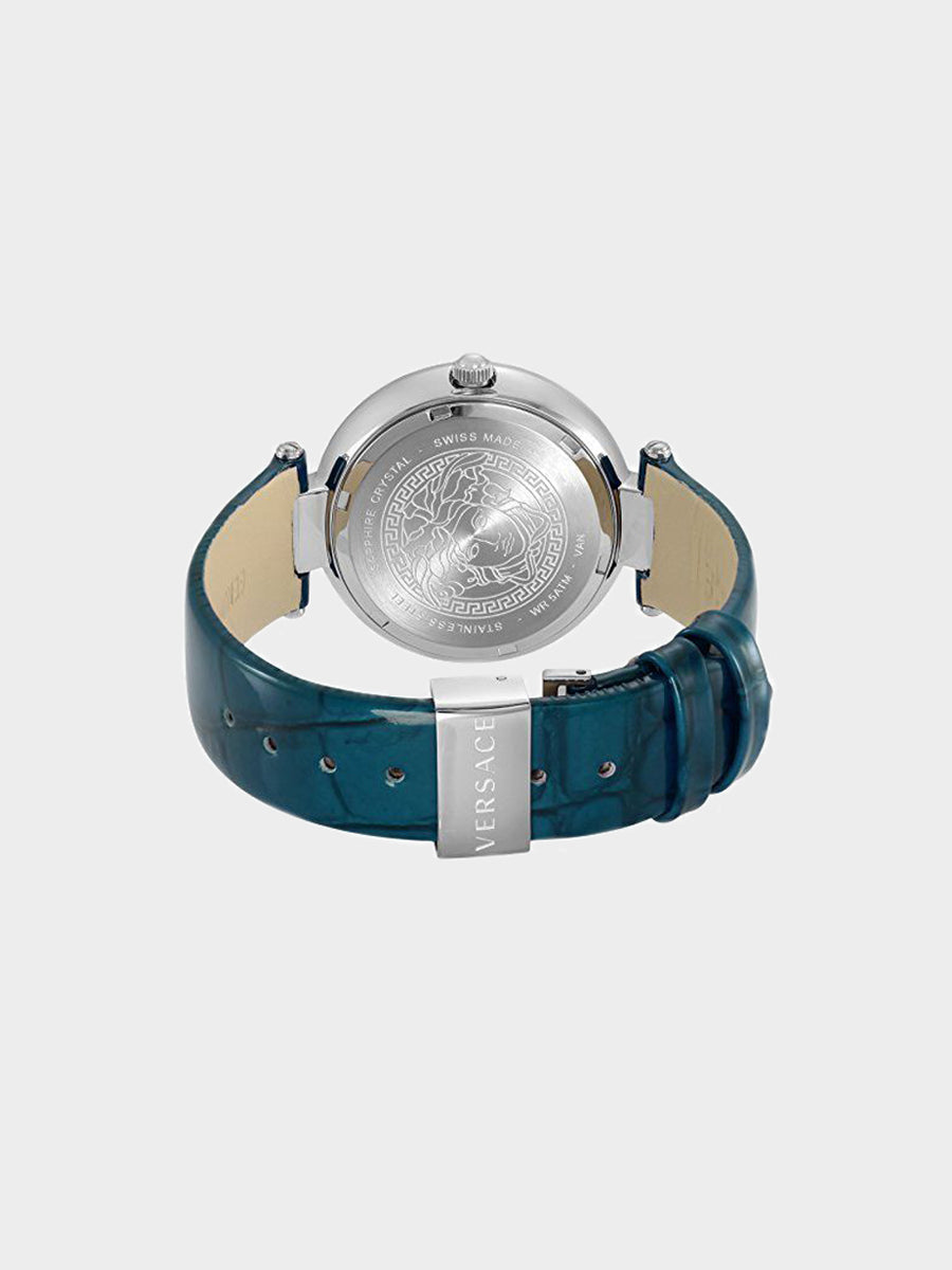 Women's Olympo Crystals Blue Leather Watch