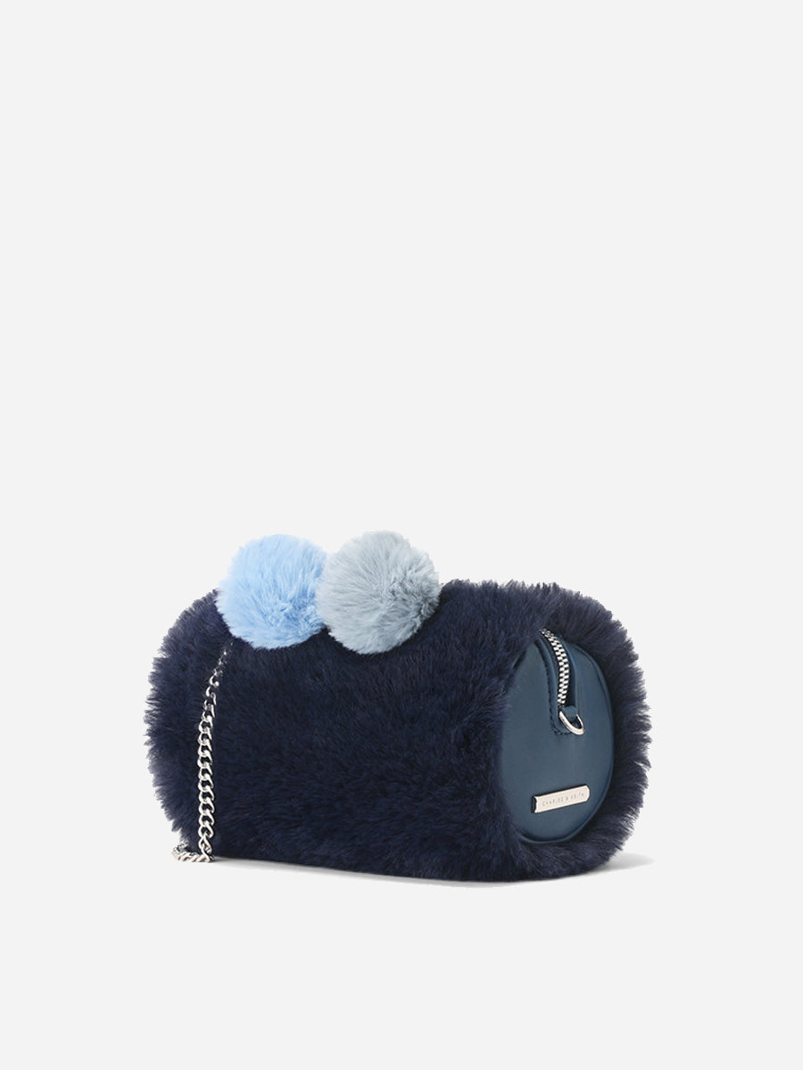Women's Bags With Furry ball decoration