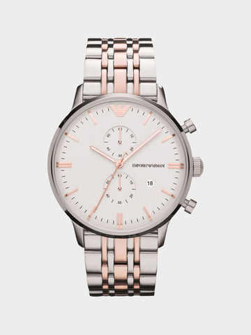 Emporio Armani Chronograph White Dial Watch
