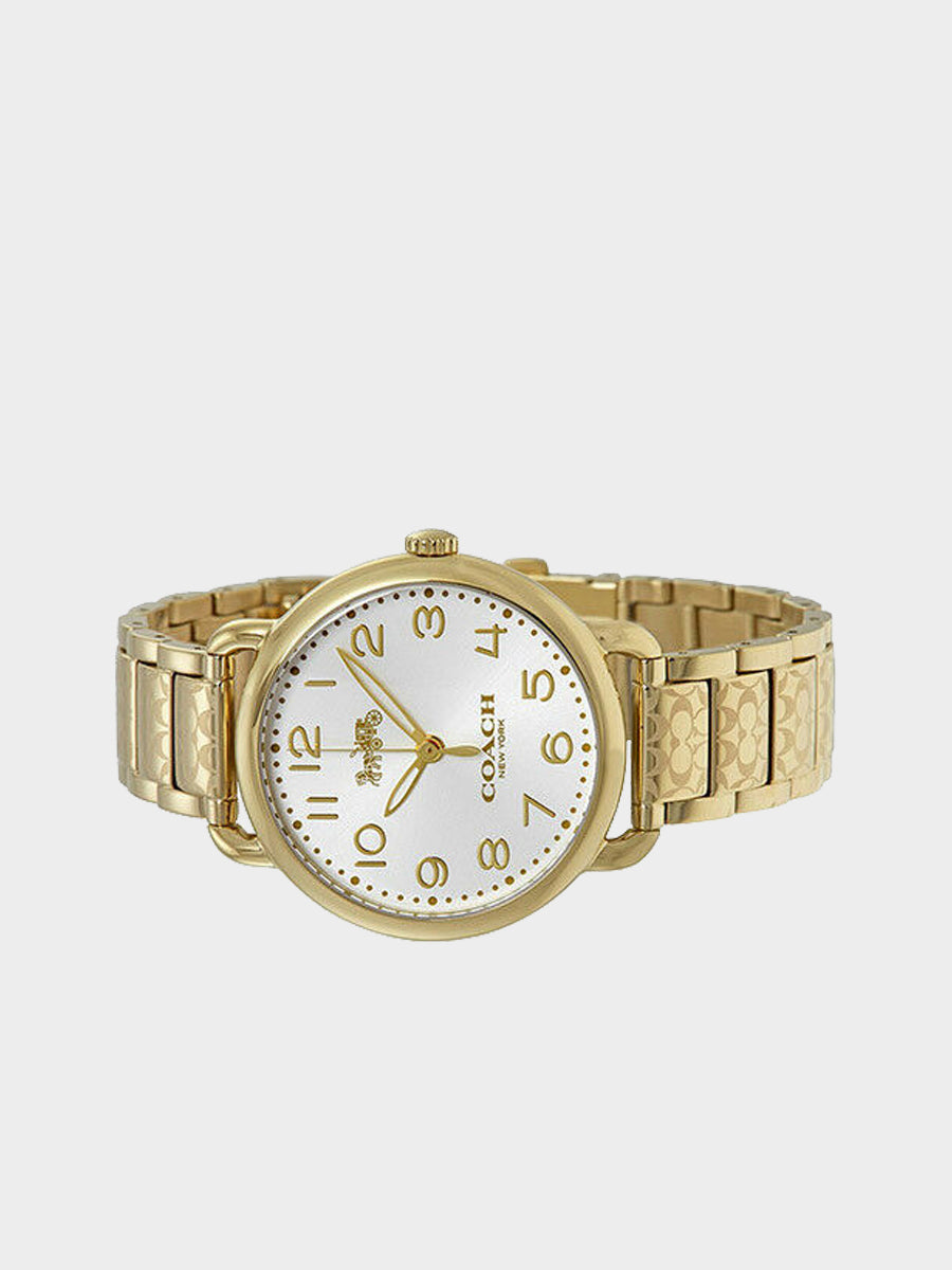 Coach Delancey  Silver Dial Watch