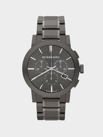 Burberry  Gray Lon Plated Watch
