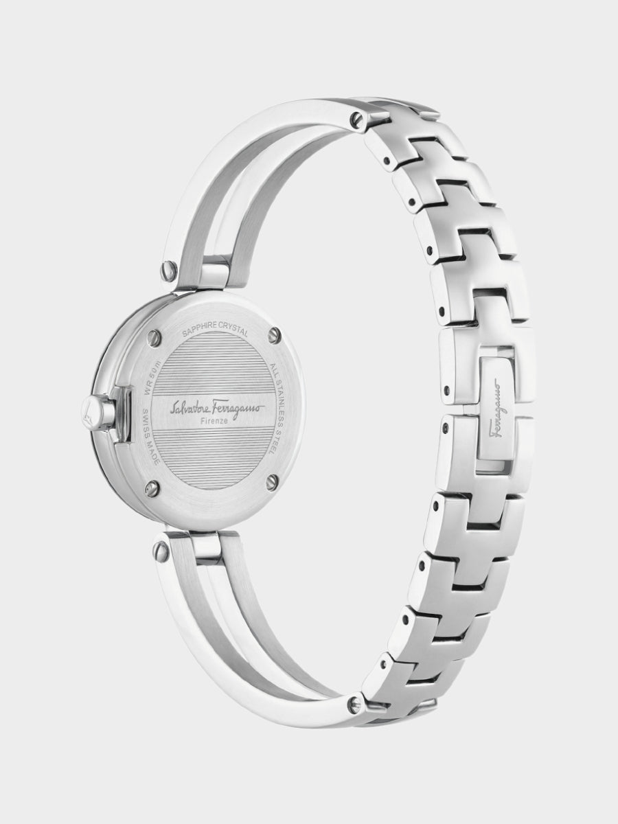 Women's Miniature Silver Stainless Steel Watch