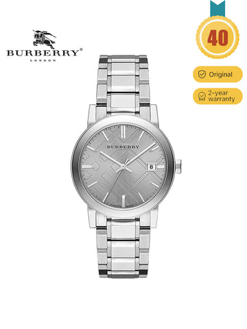 Burberry The City Silver Dial Bracelet Stainless Watch
