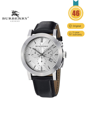 BURBERRY Chronograph  Black Leather watch