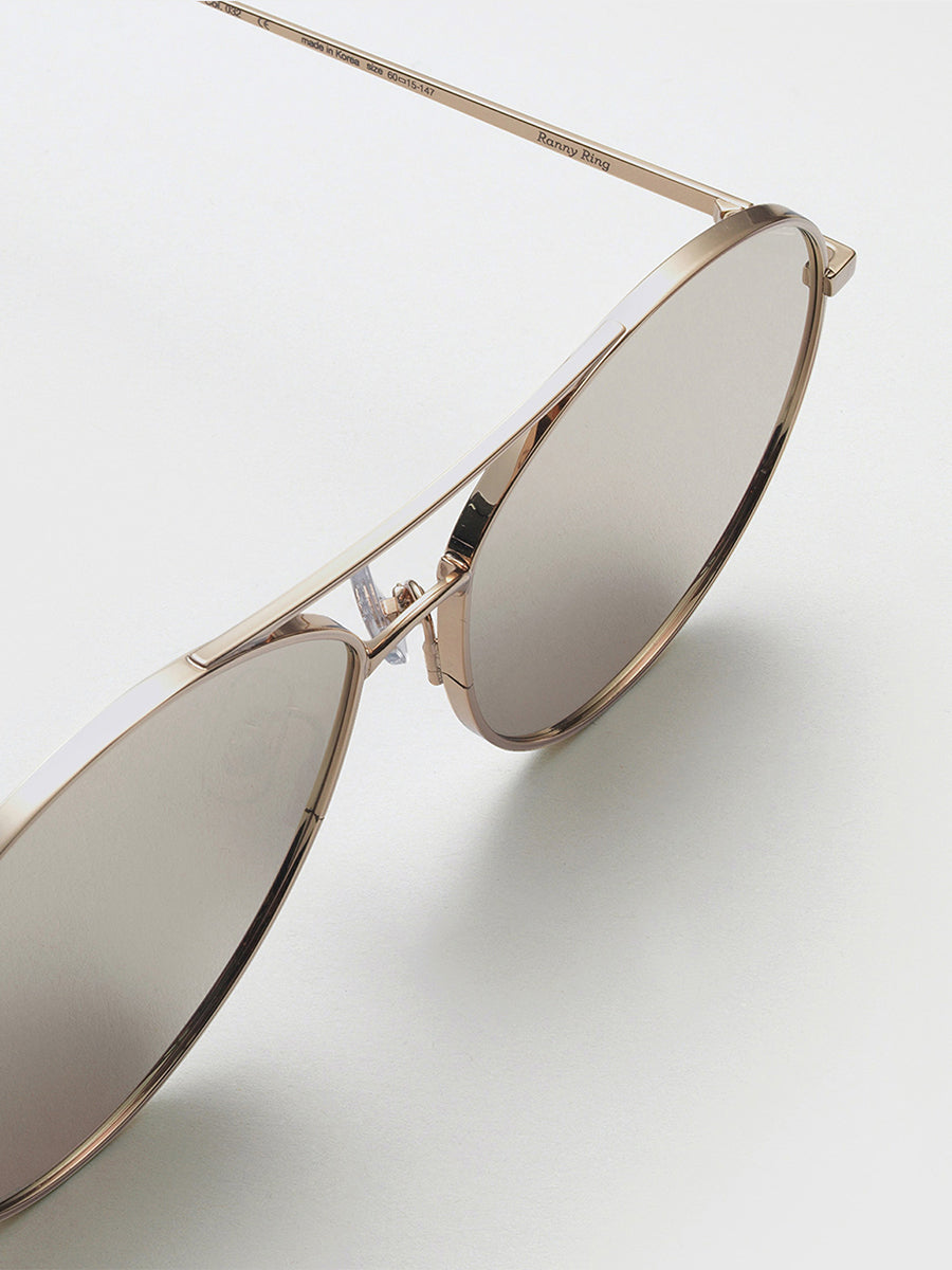 Gentle Monster Gold Mirror Sunglasses
