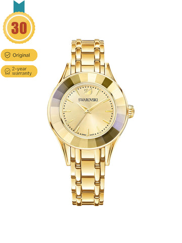Women's Gold Crystal Ring Watch