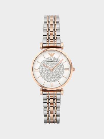 Emporio Armani Rose Gold Diamond Watch