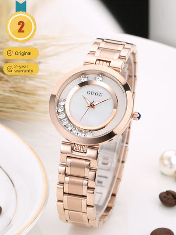 Women's Rose Gold Thin Fashion Watch