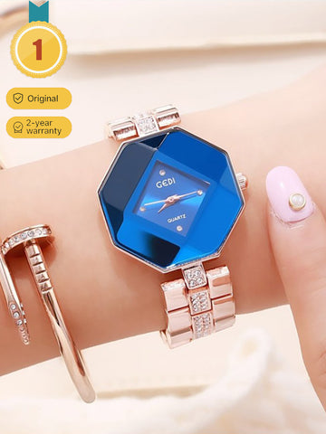 Women's Rose Steel Belt Jewelry Quartz Watch