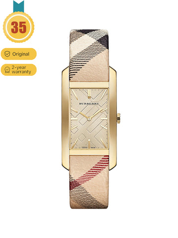 Burberry gold dial quartz ladies watch