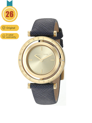 Women's Leather Reversible Diamond Inlaid Double Sided Quartz Watch