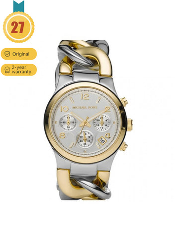 Women's Wisted Chain Chronograph White dial  Watch