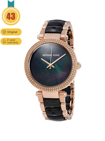 MICHAEL KORS Multicolor Parker Rose Gold Ladies Black Watch