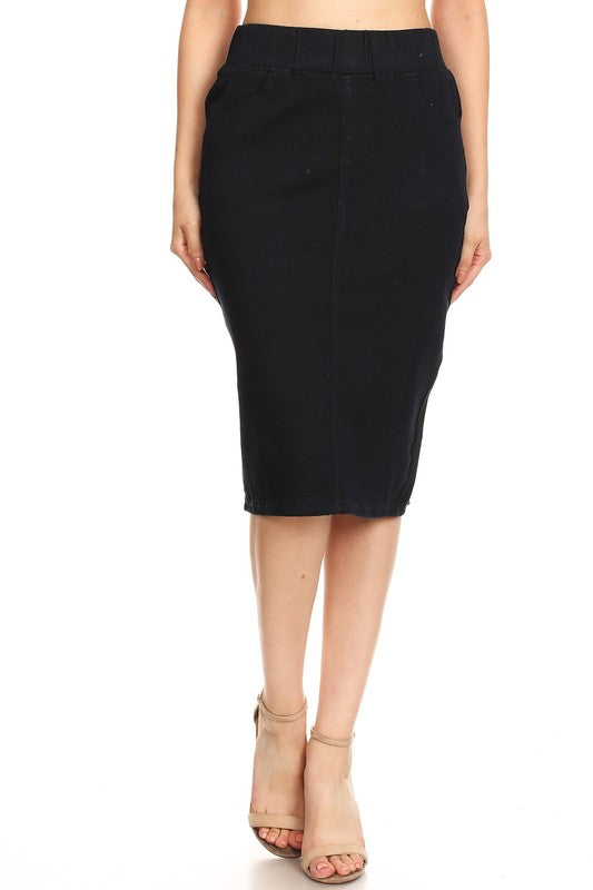 Lydia Dark Denim Skirt