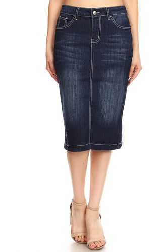 Lois Dressy Denim Skirt