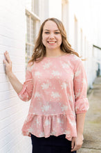 Load image into Gallery viewer, Peach Floral Blouse