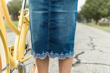 Load image into Gallery viewer, Rose Vintage Denim Skirt