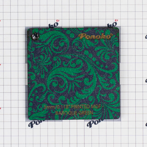 Printed MDF - Baroque Green