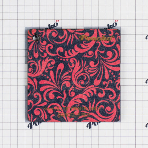 Printed MDF - Baroque Red