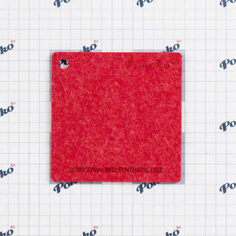 Synthetic Felt - Red