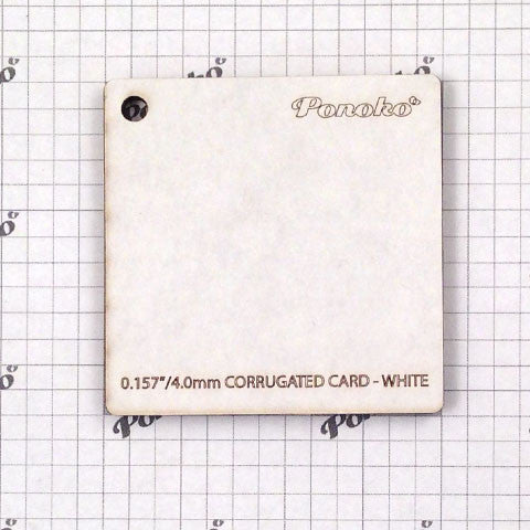 Corrugated - White