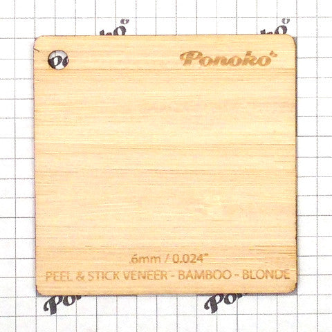 Peel and Stick Veneer - Bamboo - Blonde
