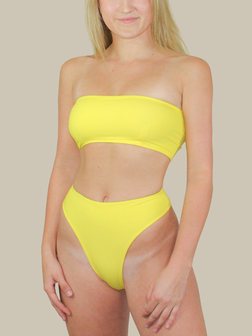 437 Swimwear The Aubrey Top (Yellow)