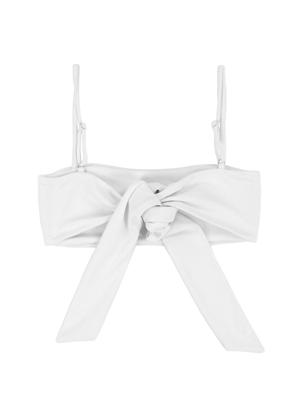 Skin By Same Bandeau Top (Ribbed White)