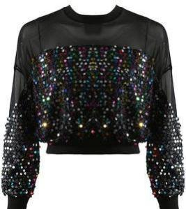 Sheer Sparkle Crop Top