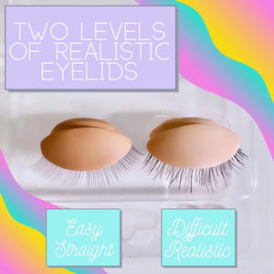 Realistic Eyelids With Eyelashes - No Mannequin Head