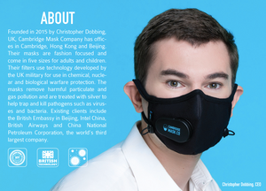 Cambridge Pro N99, Military Grade, Activated Carbon Mask