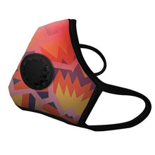 "Load image into Gallery viewer, ""This Mask is Fire"" Vog Mask - Military Grade, Activated Carbon Mask"