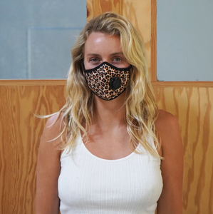 """Feline Frenzy"" Vog Mask, One Exhale Valve - Military Grade, Activated Carbon Mask"