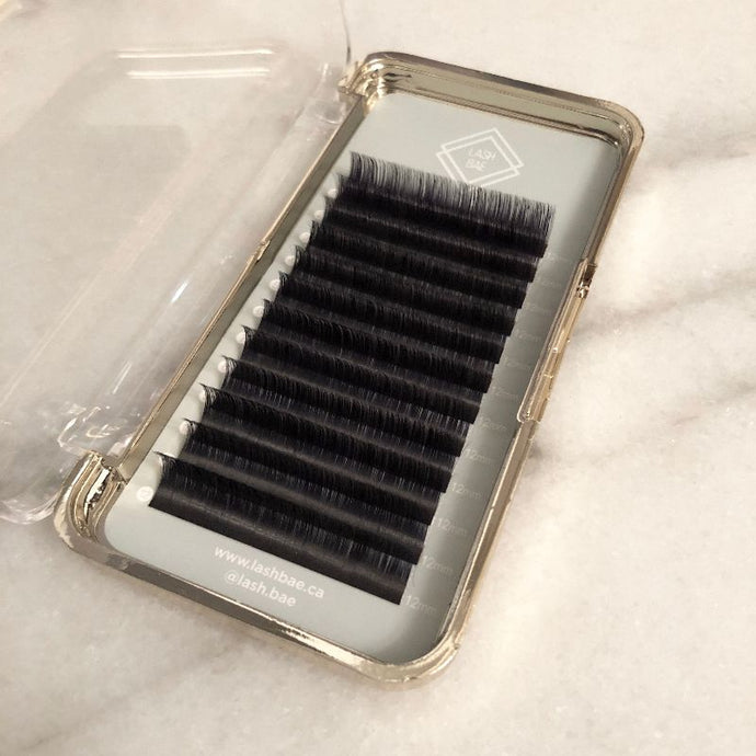 CLEARANCE Wide Strip Velvet Mink 0.03 Mega Volume Lashes - Single Length Trays