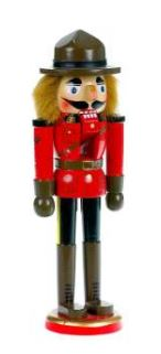 "10"" RCMP Nutcracker"