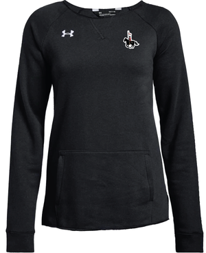 UA Hustle Fleece Crew Womens