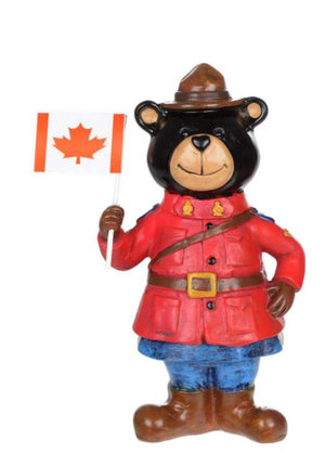 Bear Figurine with Flag