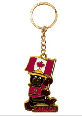 Black Bear Golden Keychain