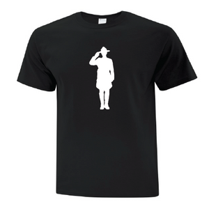 Mountie Silhouette Black Youth Tee
