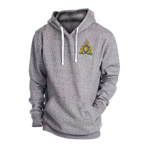 Mens Crest Grey Twisted Hoodie