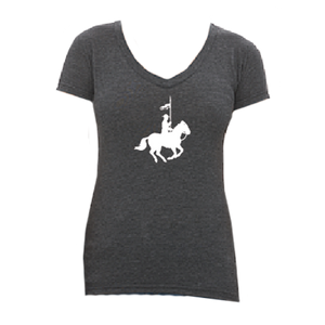 Silhouette Grey Ladies Vneck Tee