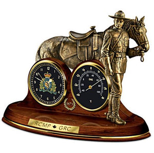 Mountie Bronze Clock