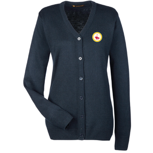 Ladies Button Up Cardigan with Patch