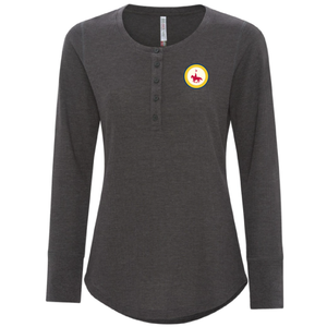 Ladies Vintage Thermal Henley